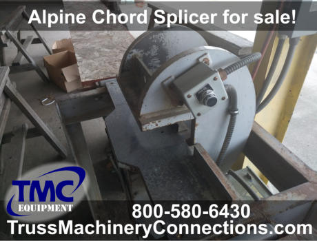 Used Alpine Chord Splicer for sale! Item F92662