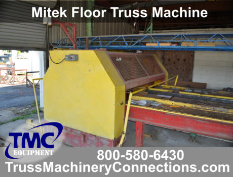 Mitek Floor Truss Machine for sale! F92481