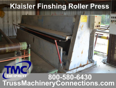Klaisler Finish Roller Truss Press for sale!